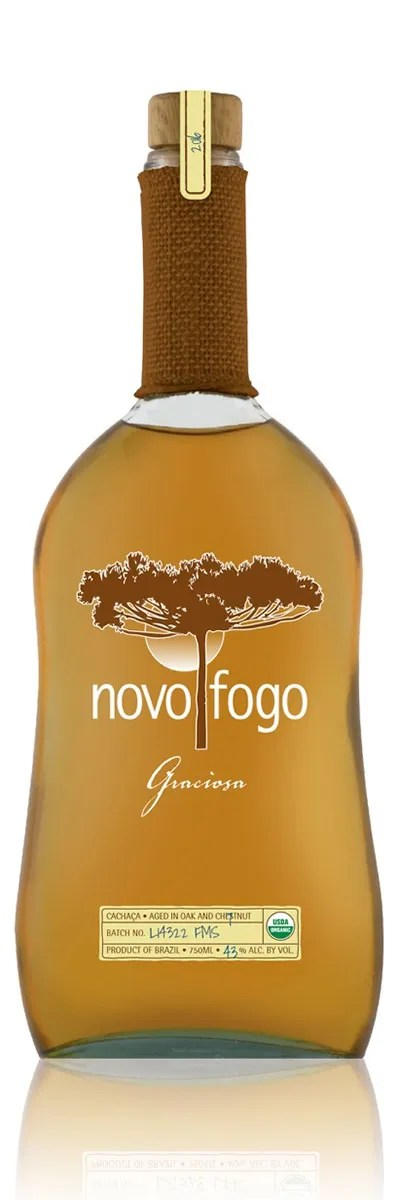 Novo Fogo Graciosa Cachaça from Brazil is double aged in two kinds of barrels