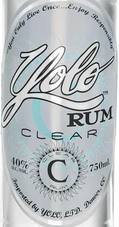Yolo Rum Clear label