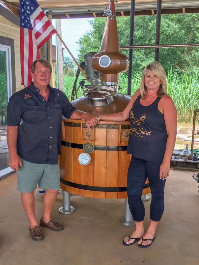 Don Davies and Jessica Giffin at Sugar Sand Distillery