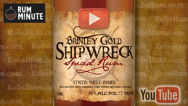 Award-Winning Brinley Gold Shipwreck Spiced Rum from Saint Kitts