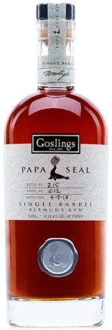 Goslings Papa Seal Single Barrel Aged Rum from Bermuda