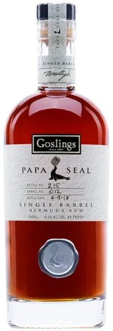 Goslings Papa Seal Single Barrel Aged Rum from Bermuda