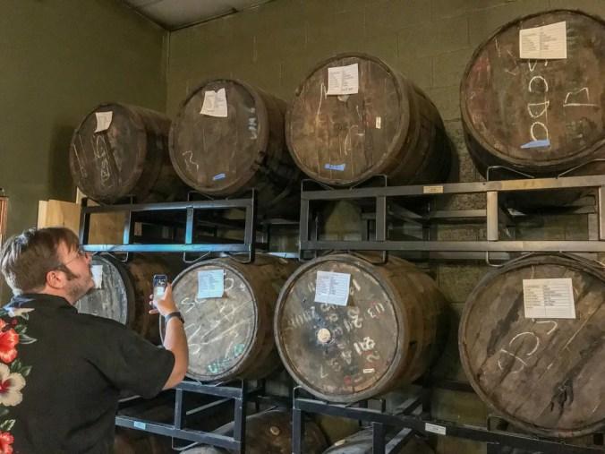rum resting in barrels