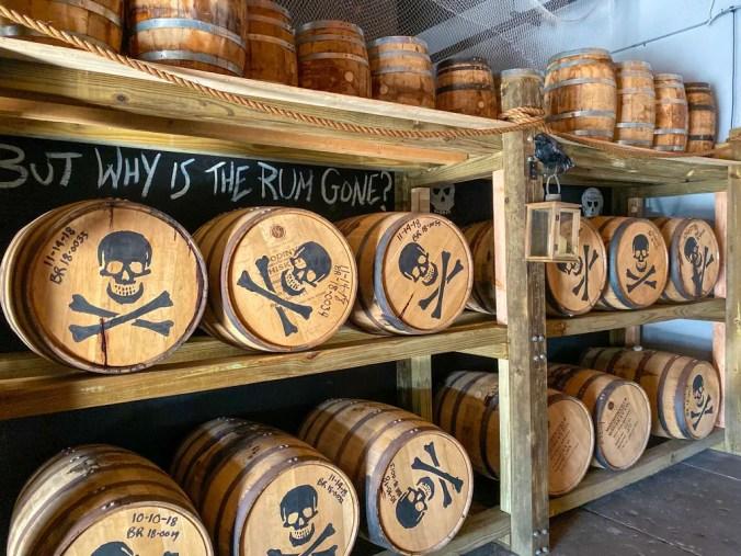 barrels at Tampa Bay Rum Company