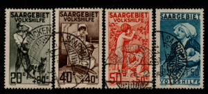 Germany SAAR SG 104-107 fine used