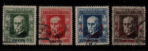 Czechoslovakia SG 249-252 expertised fine used
