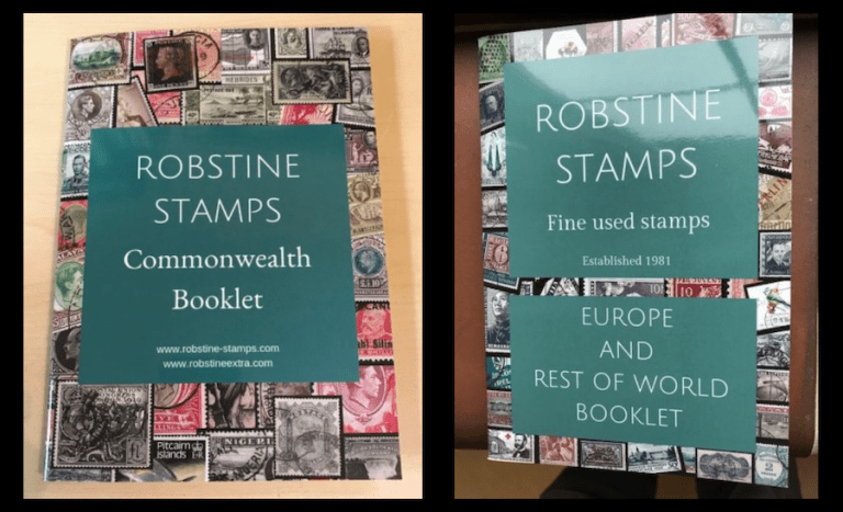 Robin Borwick, Robstine Stamps, Fine Used Stamp Dealer UK, British Commonwealth fine used stamps Booklet, European fine used stamps booklet,