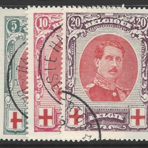 Belgium SG 157-159, fine used stamps