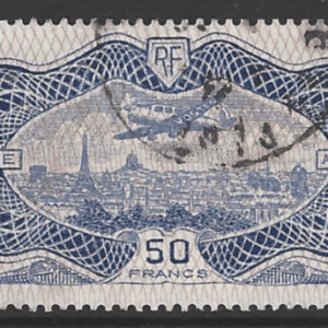 """France SG 541,  the 1936 Air """"Banknote"""" 50 francs stamp, fine used."""