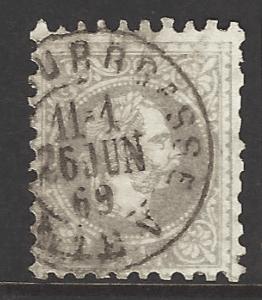 Austria SG AH 56b, fine used stamp