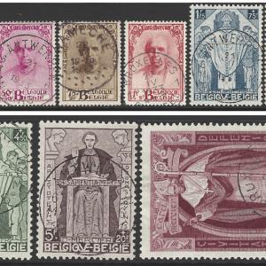 Belgium SG 609-17, the 1932 Cardinal Mercier Memorial Fund set, fine used.