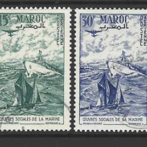 Morocco-French, SG 436-437