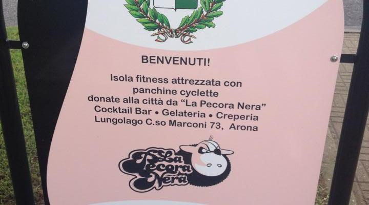 Ad Arona le panchine cyclette