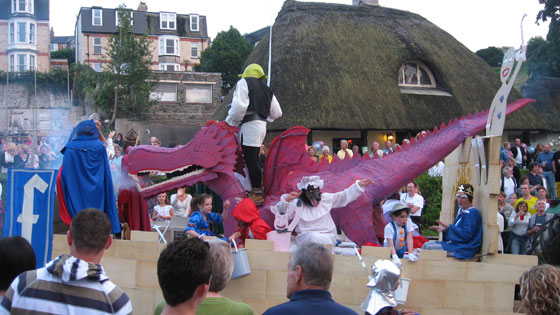 Ilfracombe Carnival - fire-breathing dragon