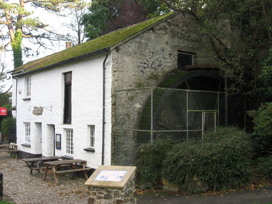 The water mill tea rooms at Bicclescombe Park, Ilfracombe