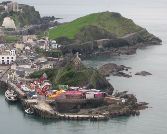 The funfair on Ilfracombe quay