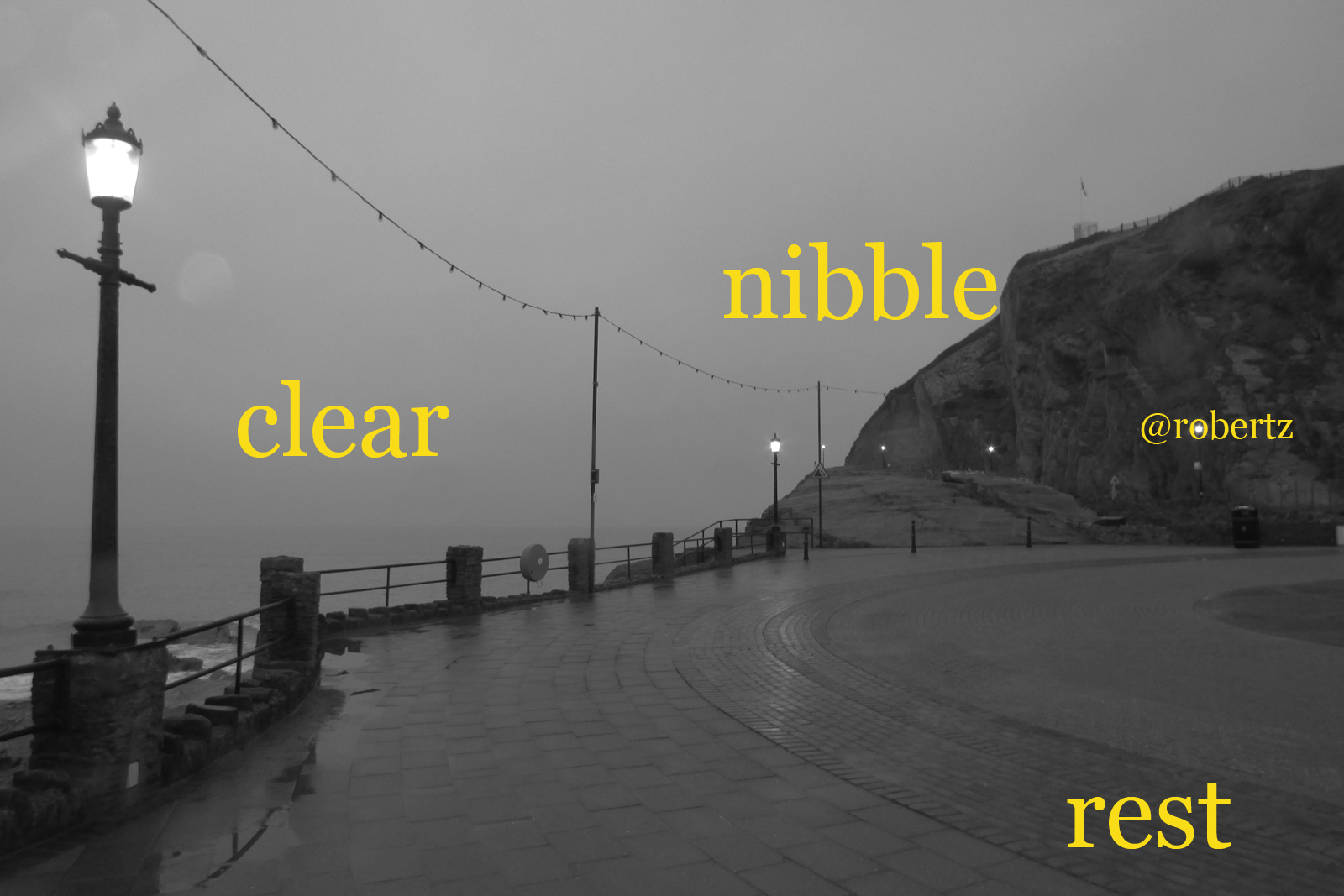 Three words for 2018: nibble – rest – clear | robertz