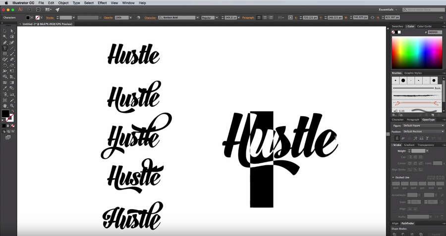 Tutorial para crear un diseño de tipografía personalizada