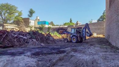 Tiraron un muro por peligro de derrumbe en zona céntrica