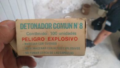 """""""Los explosivos encontrados podrían ser utilizados para detonar cajas fuertes"""""""