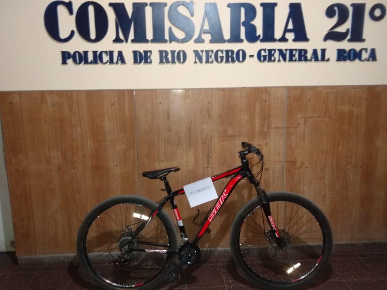 Roca: recuperan bicicleta robada – Policía de Rio Negro