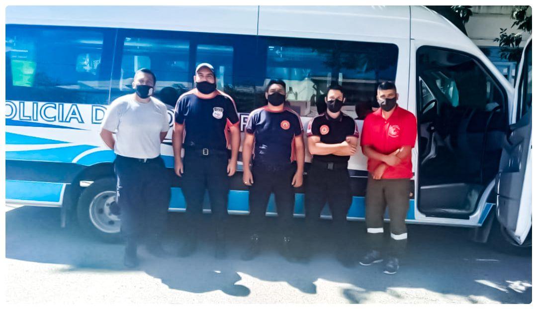 Bomberos roquenses y de la región viajan a El Bolsón para combatir el incendio
