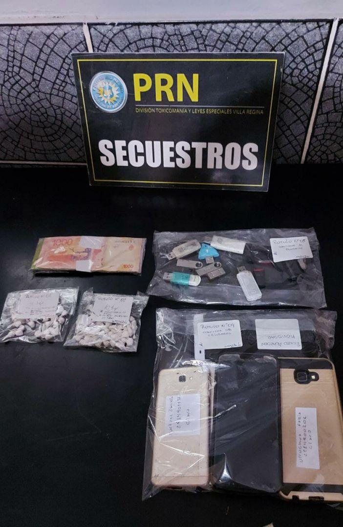Allanamientos por drogas: Secuestraron cocaína, marihuana, celulares y dinero en efectivo