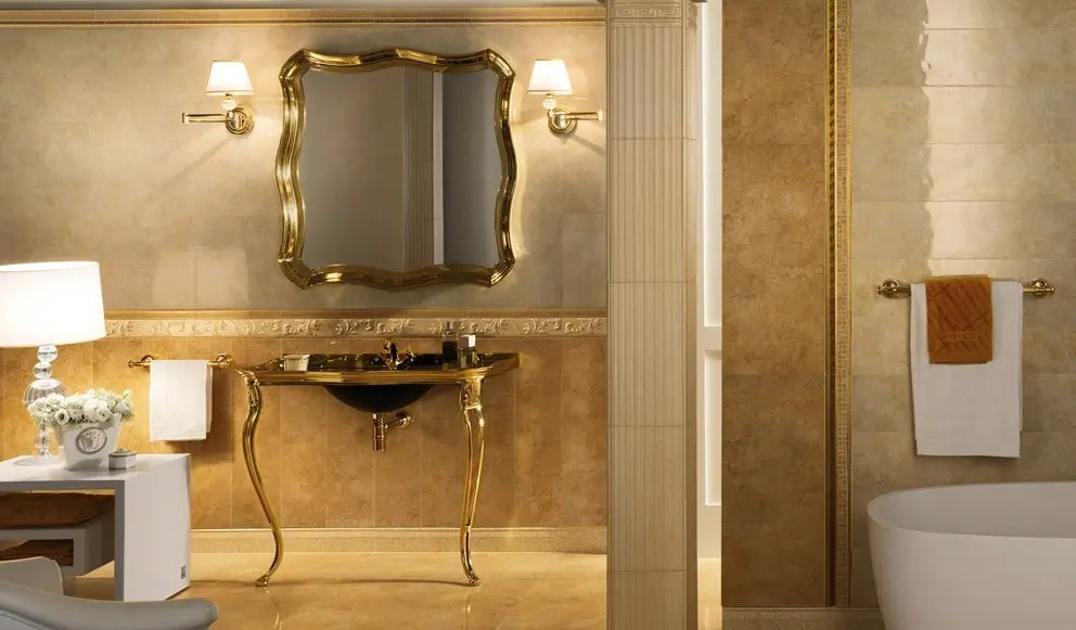 Versace Palace Living Gold Tiles  Enquire Now with ROCCIA