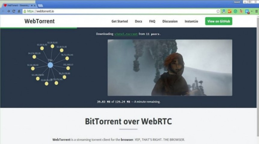 WebTorrent client BitTorrent per browser per il peer to peer 2