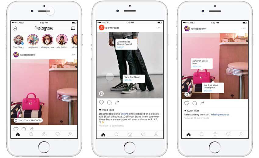Instagram, Shopping, Stories,