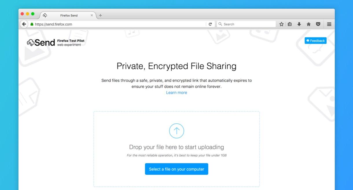 sharing, file, criptati, Firefox Send,