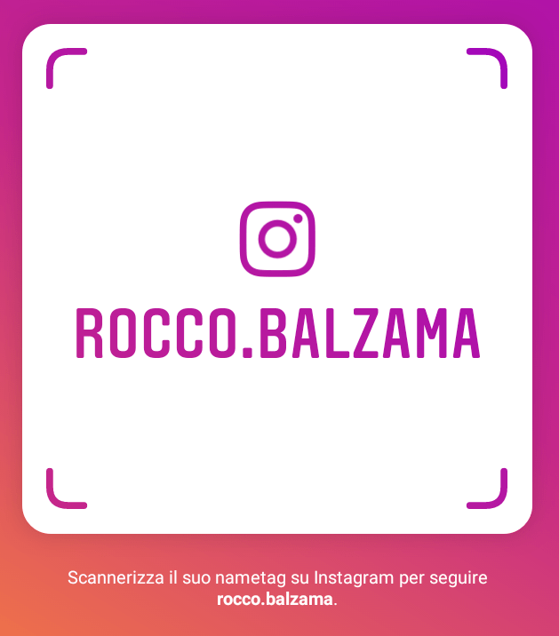 Follow rocco balzama on instagram