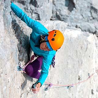 escalade sportive sur rocher