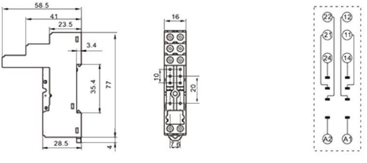 Alternative SJ1S-07L SJ2S-07L relay socket for SJ1S SJ2S