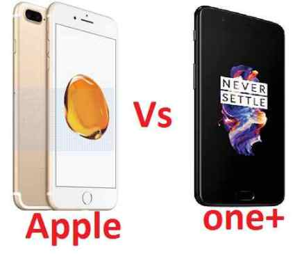 apple iphone 7 vs one plus