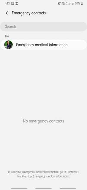 Emergency Contact in android