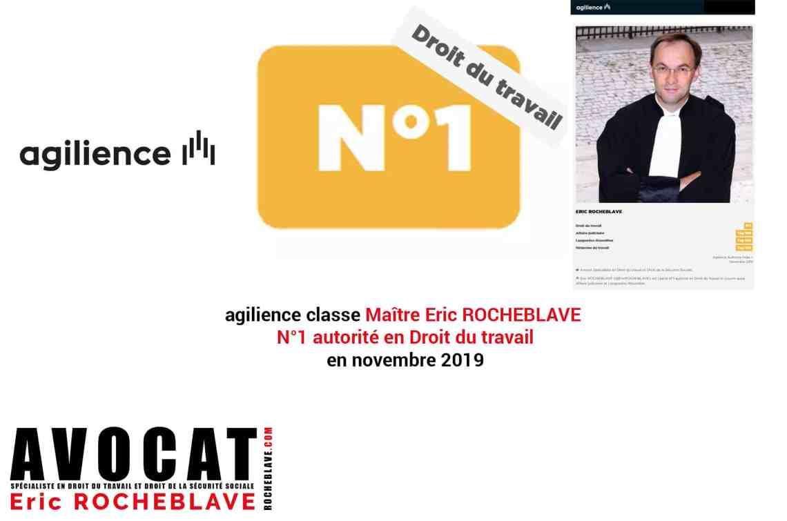 agilience classe Maître Eric ROCHEBLAVE N°1 autorité en Droit du travail en novembre 2019
