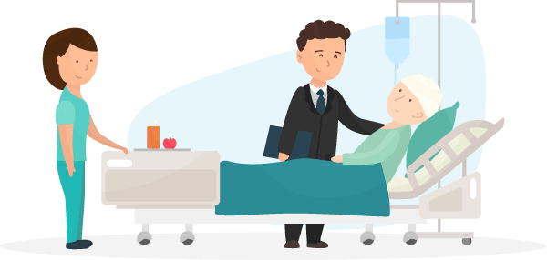 Compensation Lawyer Visits Patient in Hospital