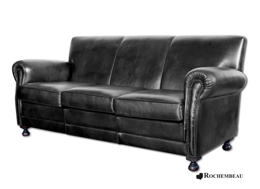 cb2 club leather sofa set manila contemporary 3 seater black