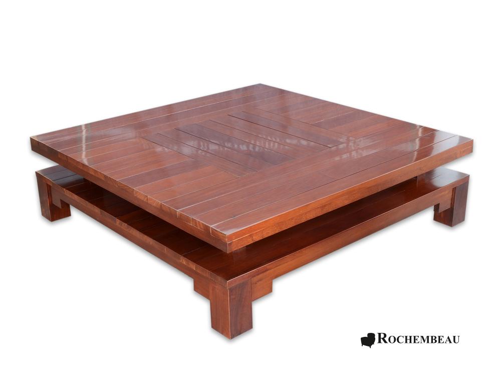 Table Basse Carr De Salon En Bois Massif