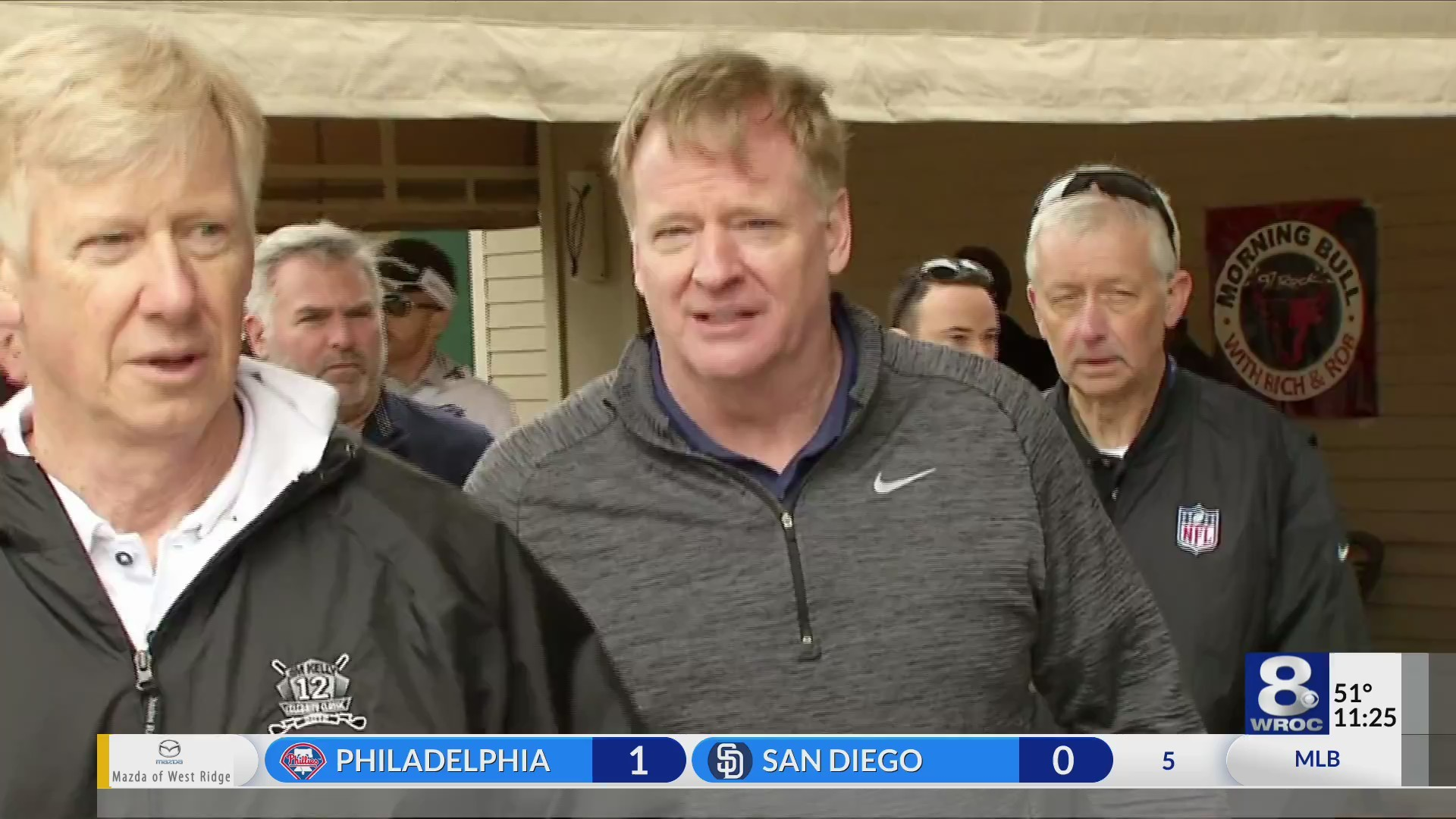 Goodell talks stadium at Kelly Classic