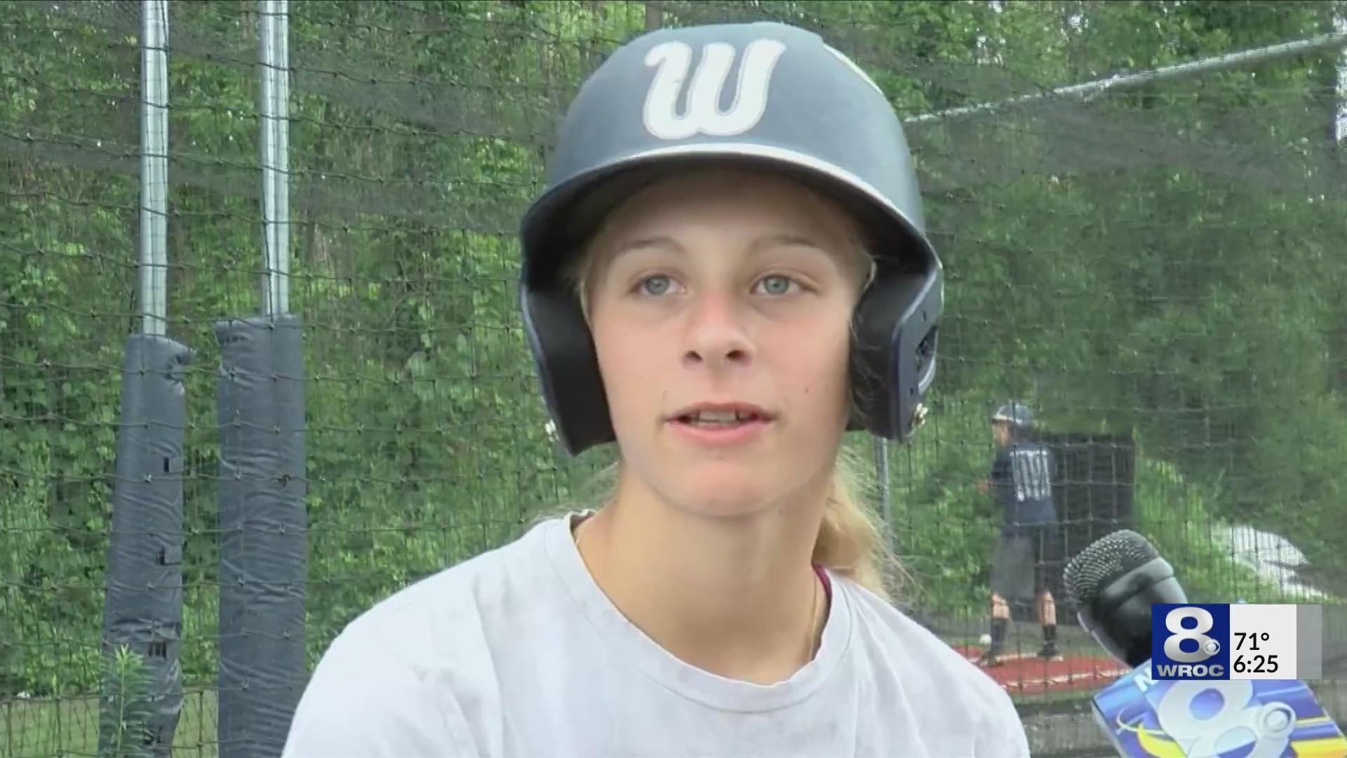Webster girl stars on Rochester's top little league team