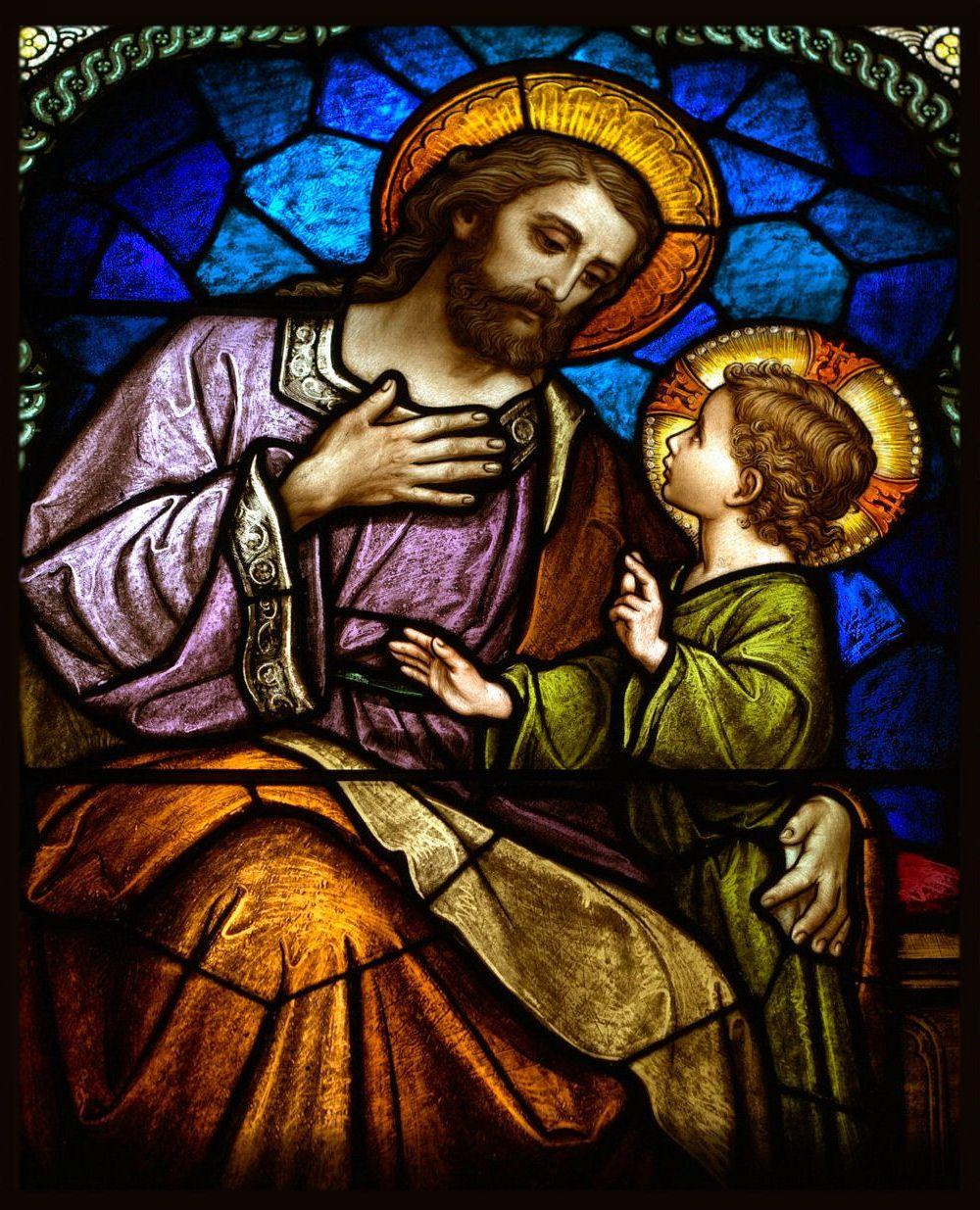 Évangile du jour avec Luisa Picaretta et Maria Valtorta - Page 3 St.-Joseph-Stained-Glass