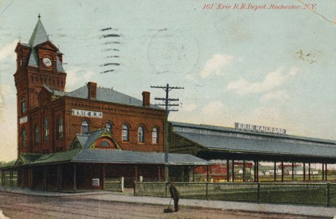 Erie Railroad Depot. (looking from Exchange Street from the south).