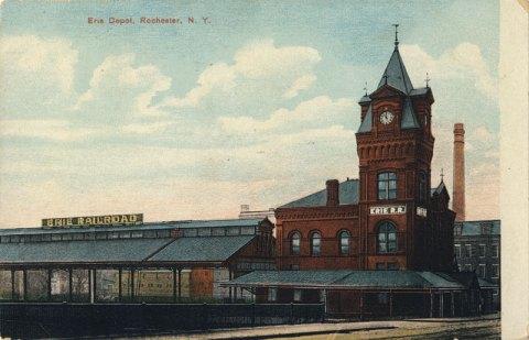 Erie Railroad Depot. (looking from Court Street Bridge).