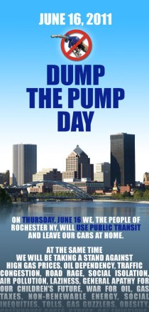 Join us for National Dump the Pump Day, Thursday June 16 2011.