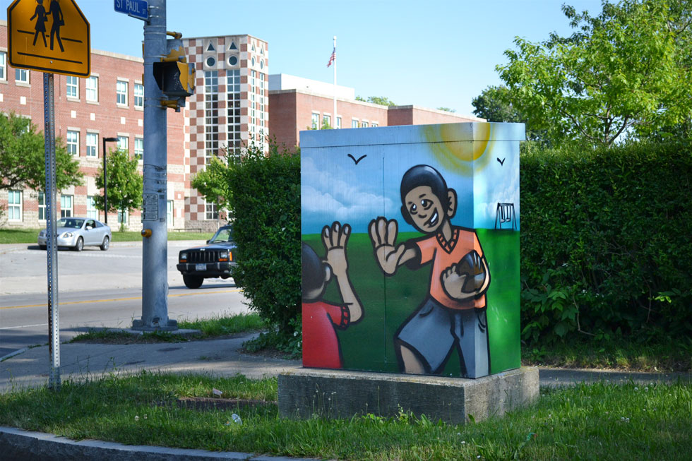 RochesterSubwaycom  13 Works of Art On Traffic Signal Boxes
