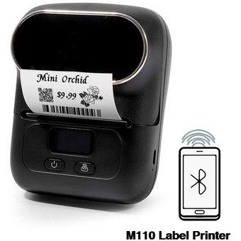 M110 Negro vista frontal con impresión
