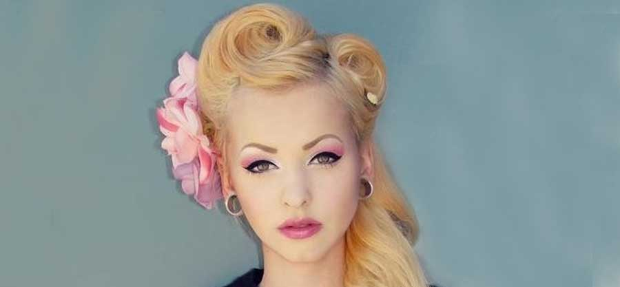 Vintage Haarstyling Victory Rolls So Gehts! Rockabilly Rules